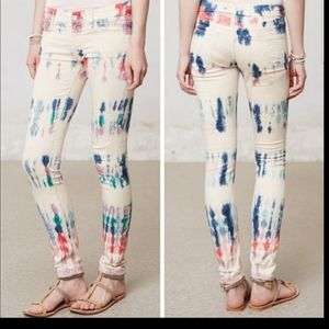 Mother the looker scaramouche tie dye skinny pants